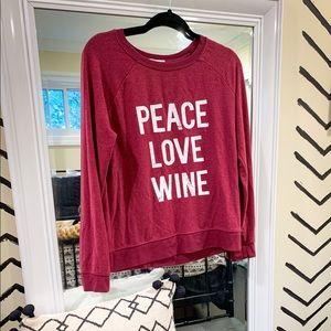 Peace Love Wine Sweater